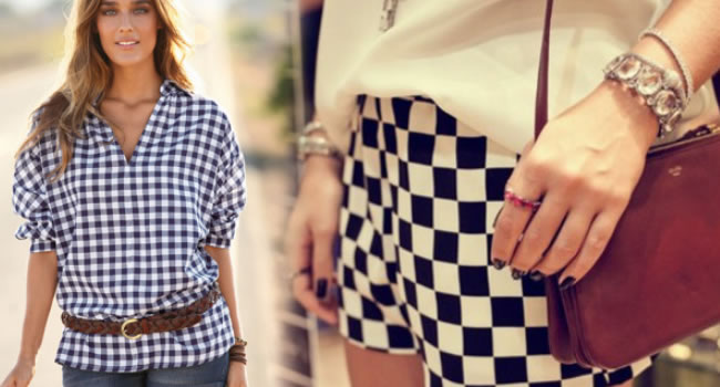 ropa de moda cuadros